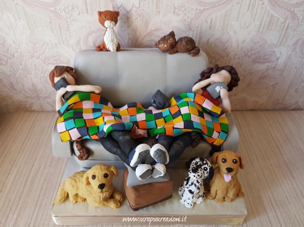 cake topper san valentino divano