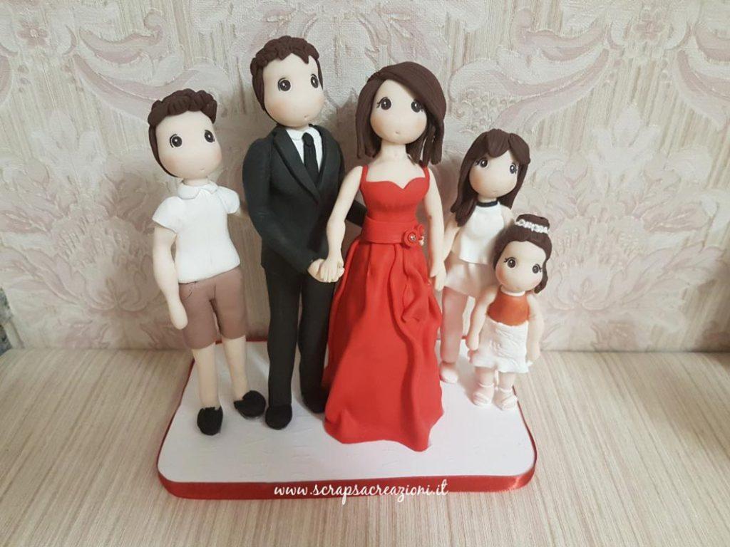 cake topper stilizzati famiglia