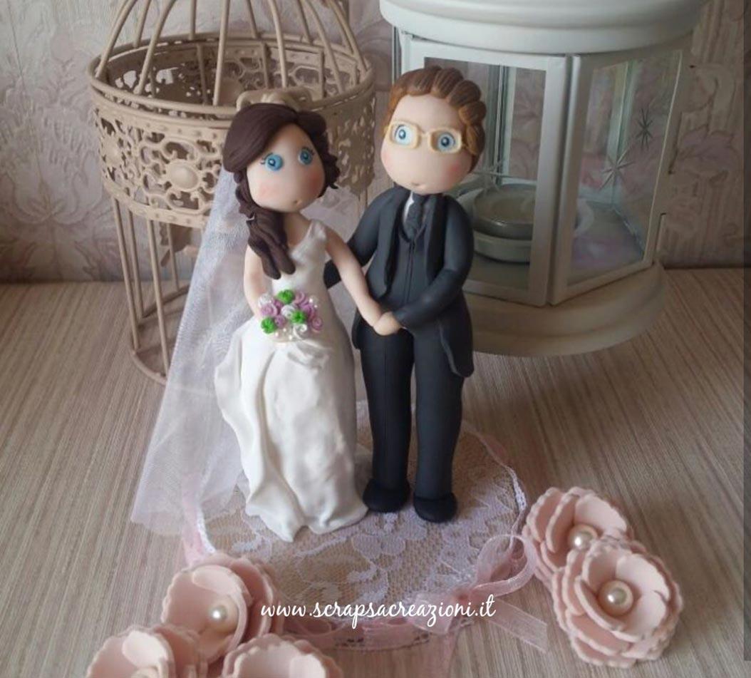 cake topper stilizzati matrimonio