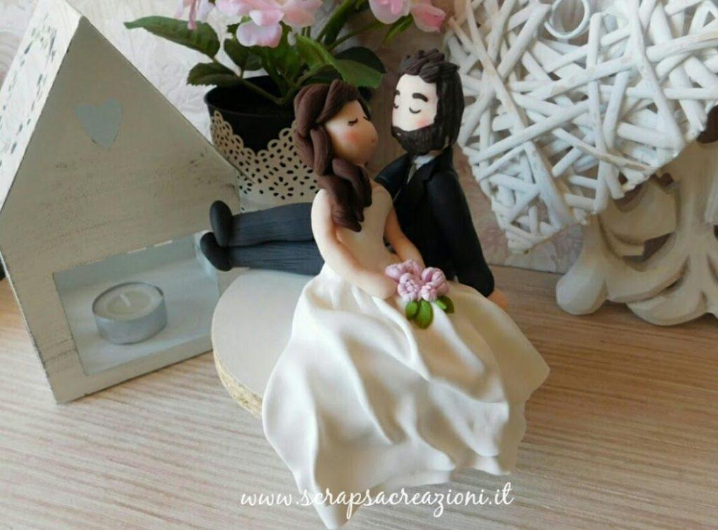 cake topper stilizzati sposi matrimonio