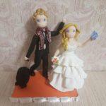 cake topper stilizzati sposi viaggio