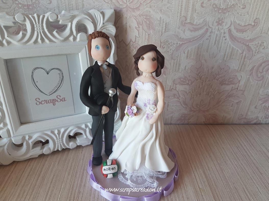 cake topper stilizzati sposi