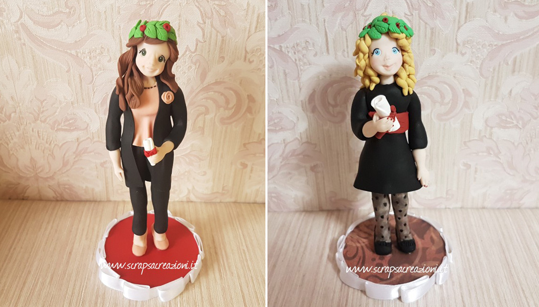 cake topper per torte di laurea decorate