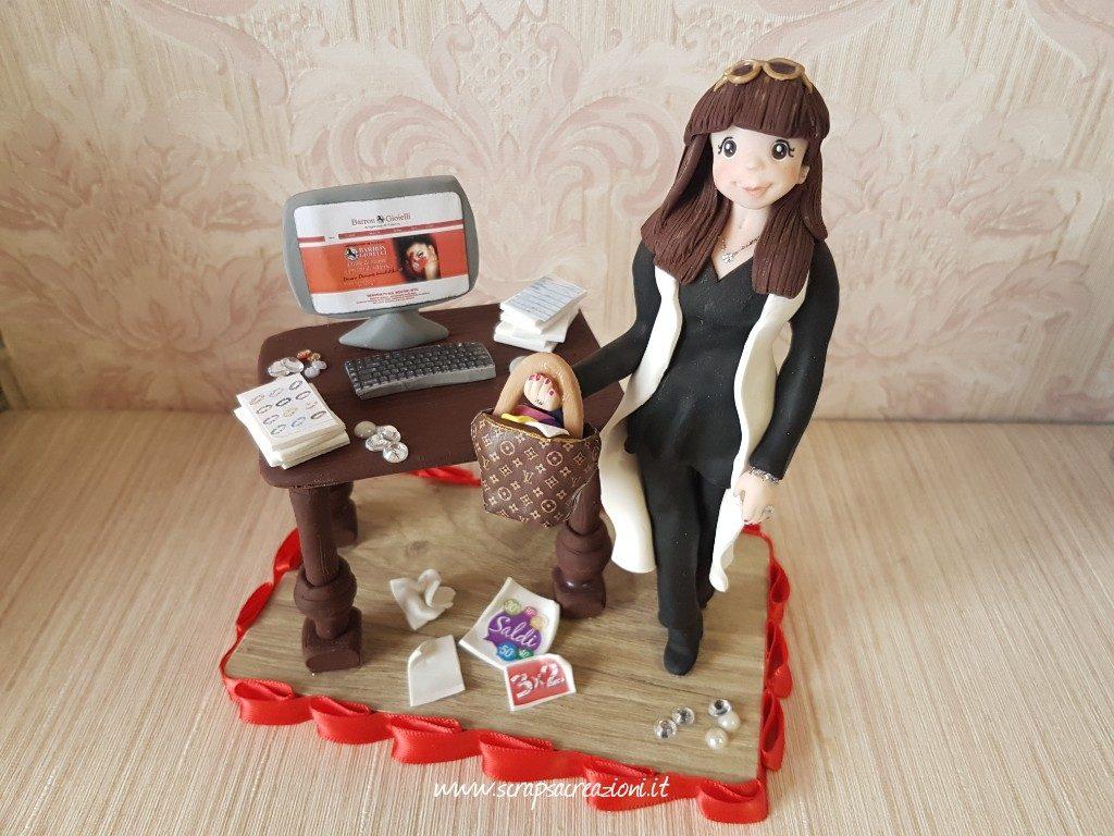 cake topper regalo amica speciale stilista