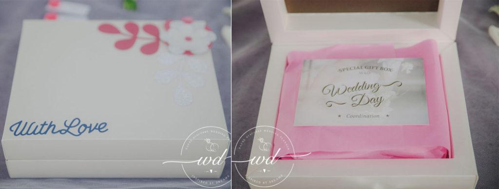 organizzare un matrimonio, gift box da regalare agli sposi
