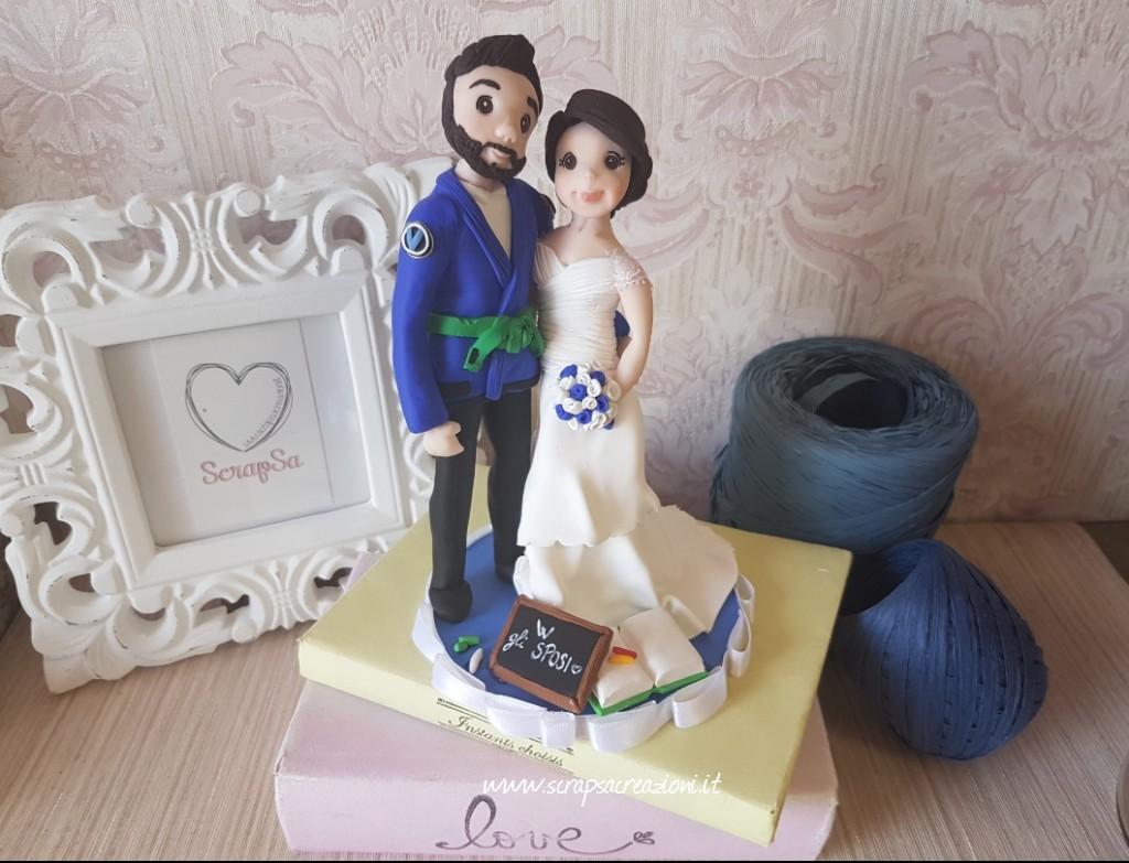 cake topper sposa spalline pizzo