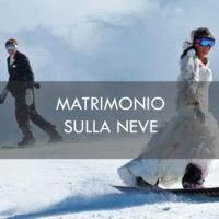 matrimonio sulla neve con gli sci