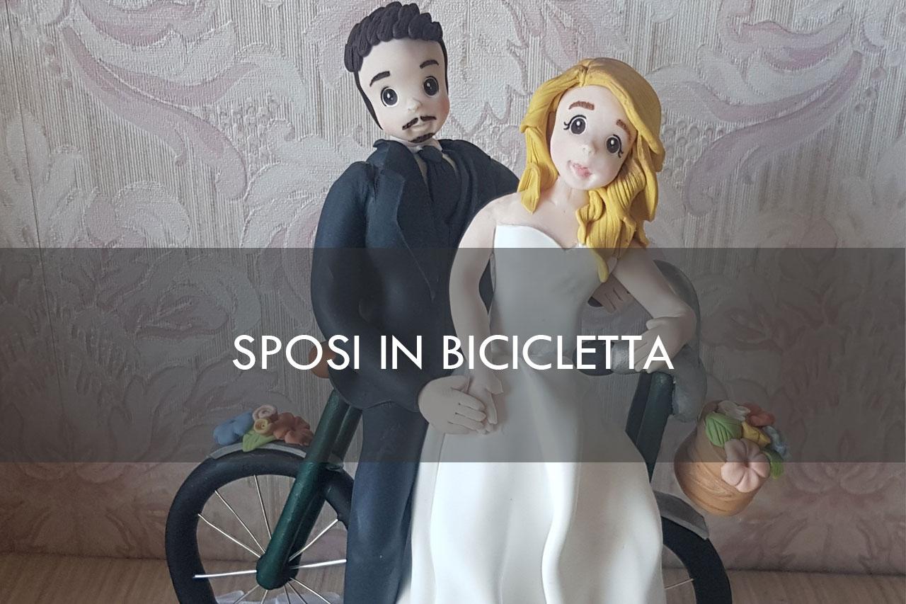 sposi in bicicletta