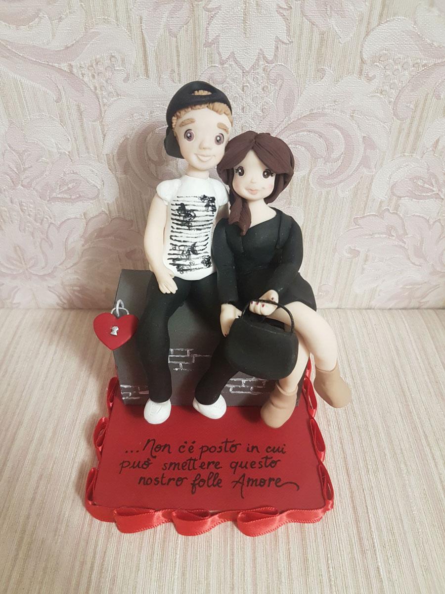 cake topper idee san valentino fai da te
