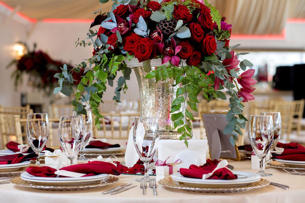 centrotavola fiori matrimonio invernale