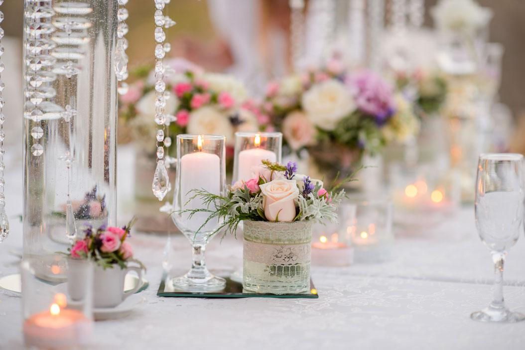 Centrotavola fiori matrimonio primaverile