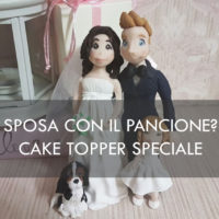 Cake topper sposa incinta