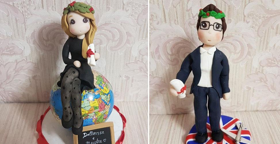 cake topper per laurea corona d'alloro