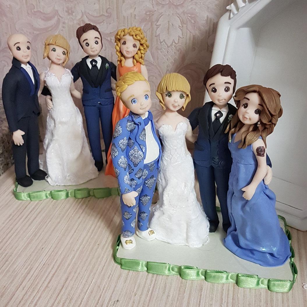 cake topper sposi personalizzati con testimoni