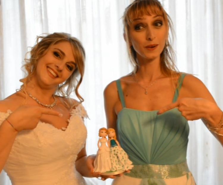 cake topper torta matrimonio bianca verde
