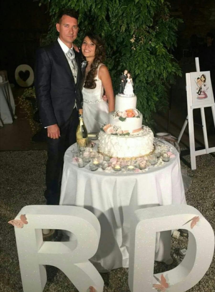 cake topper torta matrimonio romantica fiori