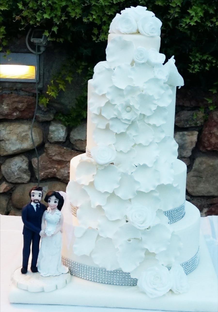 cake topper torta matrimonio romantica