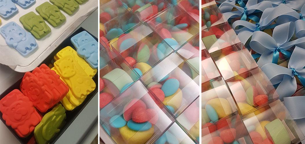 bomboniere primo compleanno confezione caramelle