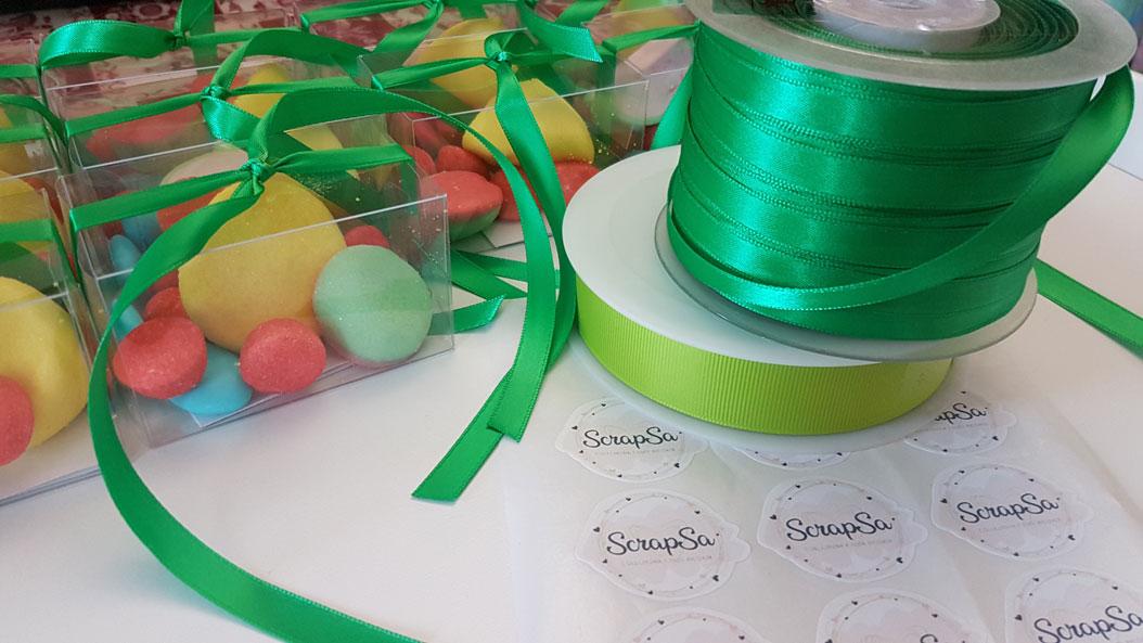 fiocco verde scatolina bomboniera primo compleanno
