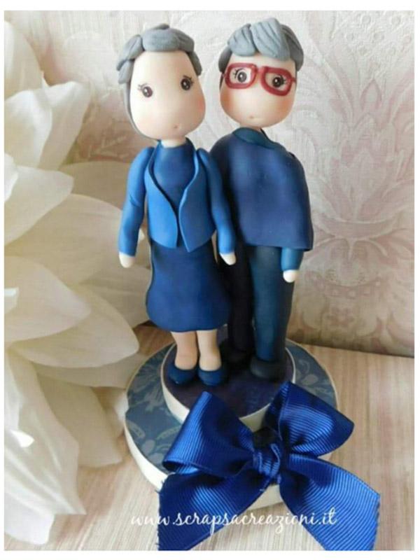 cake topper gay donna azzurro