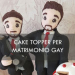 cake topper gay matrimonio