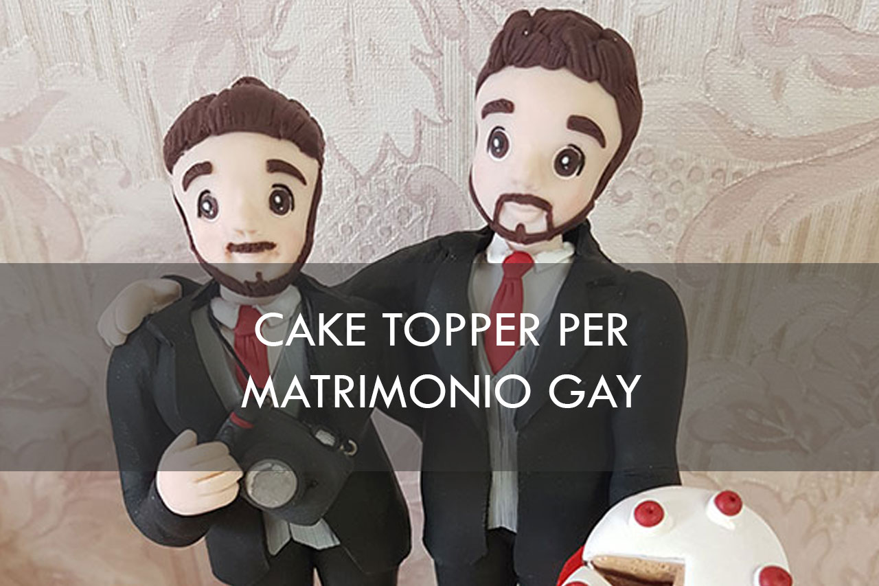 cake topper gay matrimonio