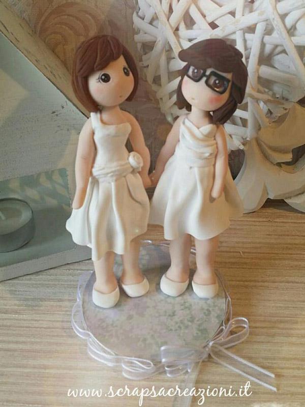 cake topper gay spose bianco