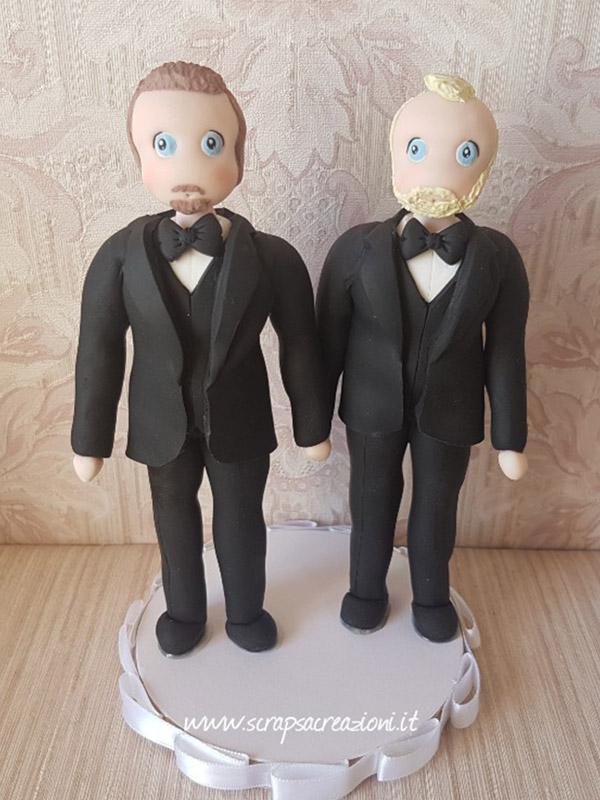 statuine sposi gay uomo classico
