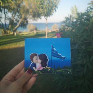 cartolina foto ricordo innamorati