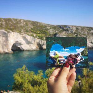 cartolina fotografica personalizzata mare