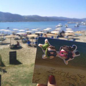 cartolina fotografica personalizzata spiaggia