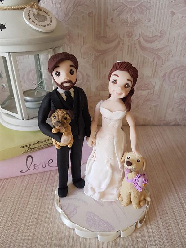 cake topper coppia cani