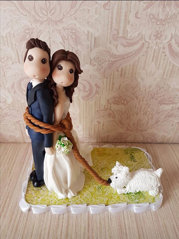cake topper cane spiritoso