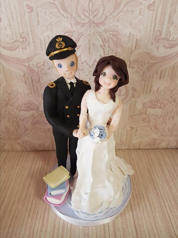 cake topper sposi personalizzato in divisa