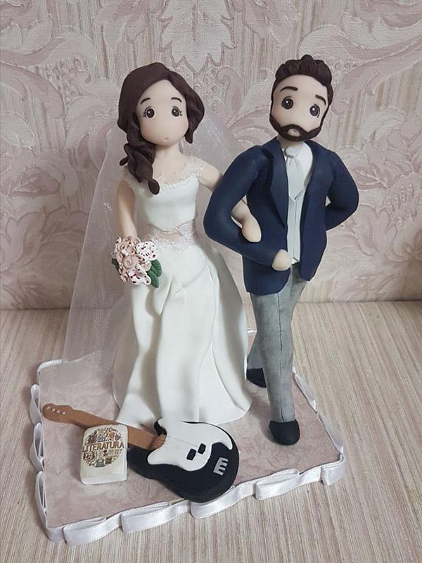 cake topper sposi personalizzato passione musica