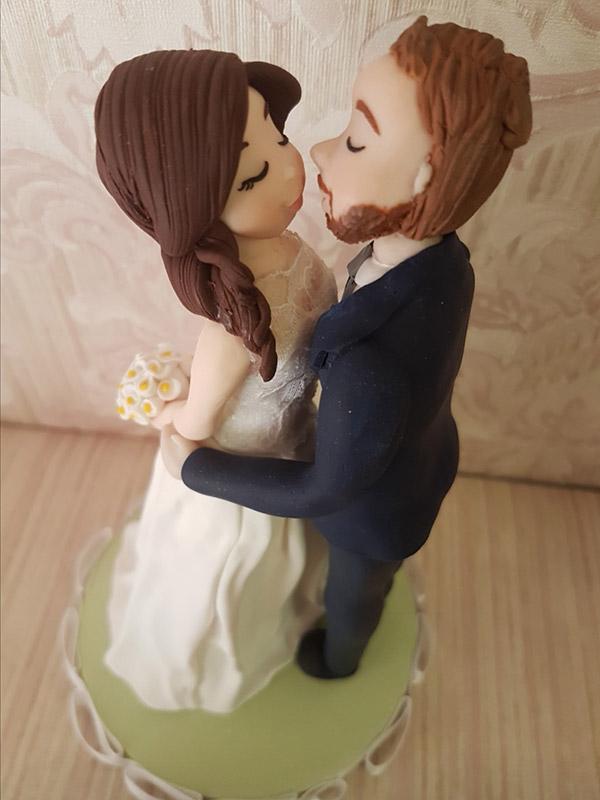 cake topper sposi romantici realistico