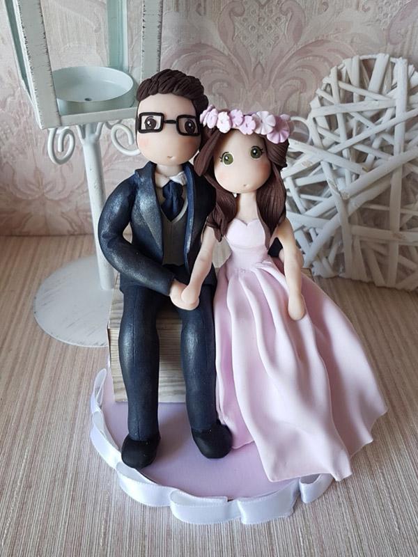cake topper sposi romantici stilizzati