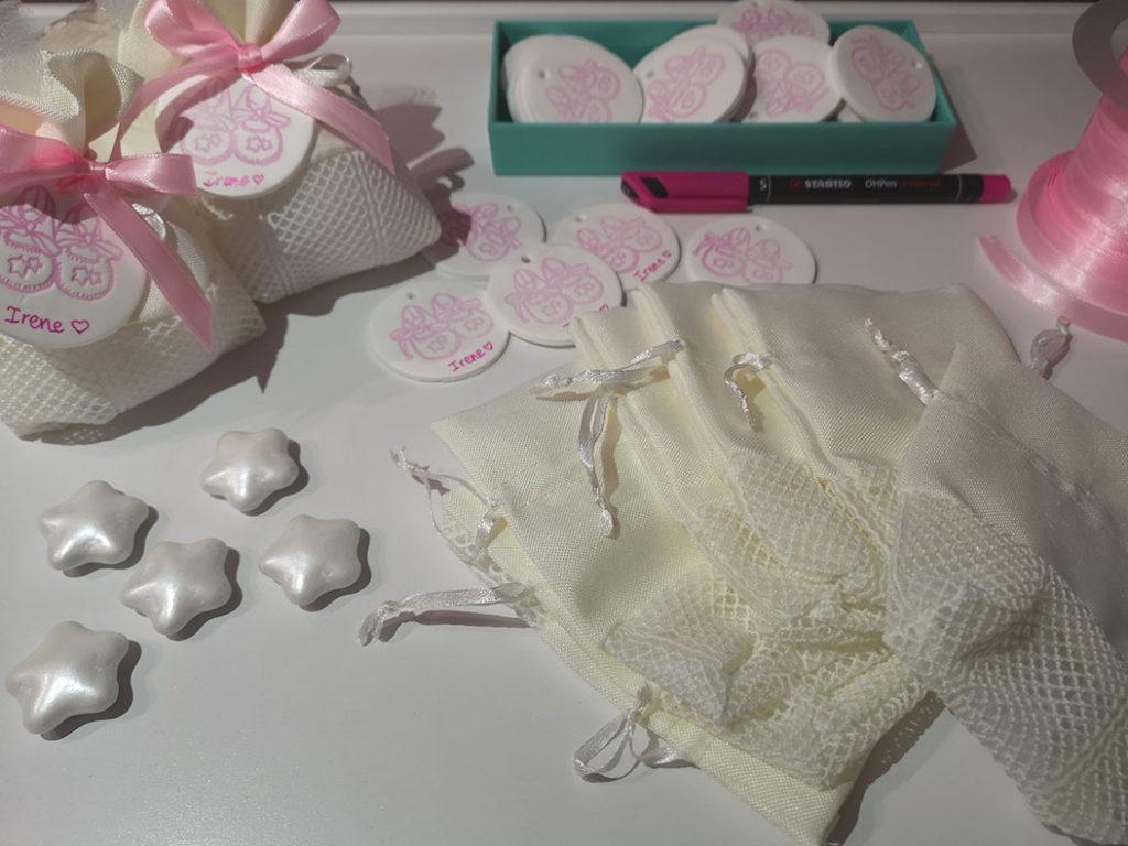 sacchetti nascita bimba confetti stelline