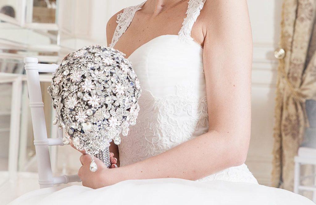bouquet sposa alternativo stile gioiello gioiello