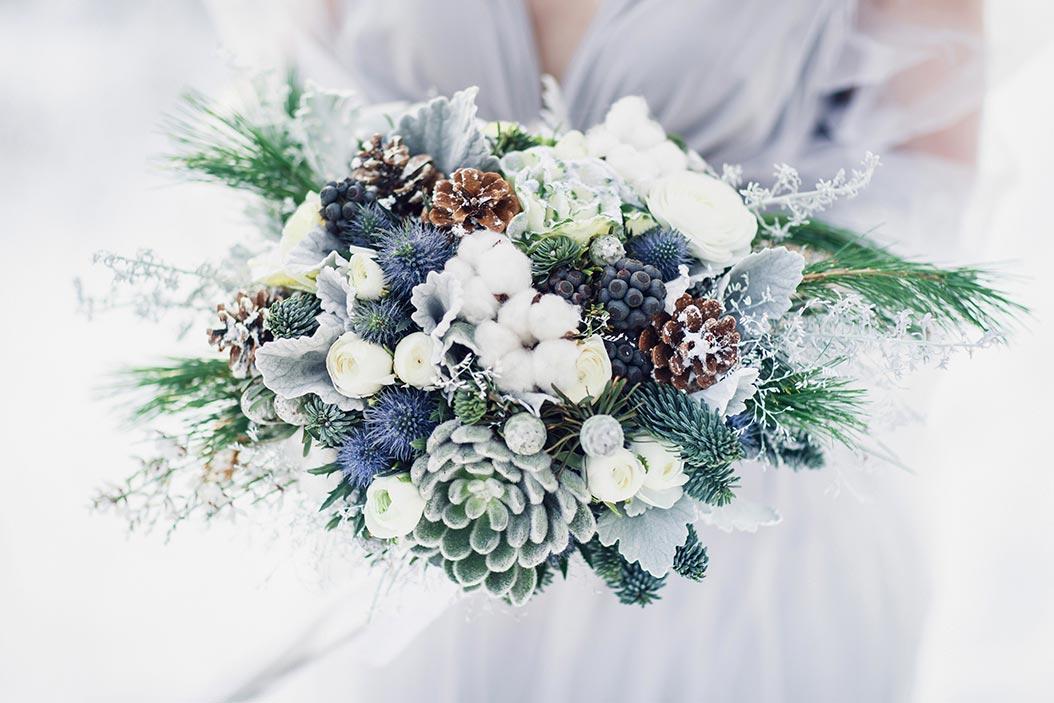 bouquet sposa invernale colori freddi