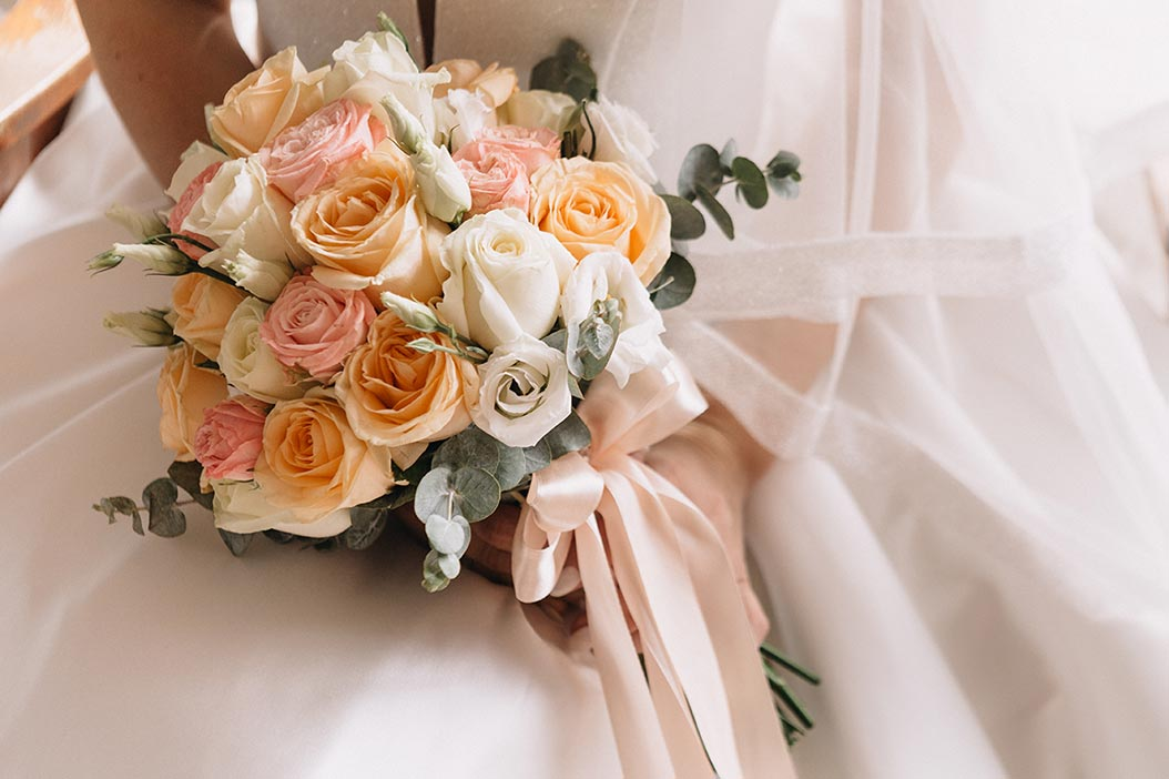 bouquet romantico colori pastello