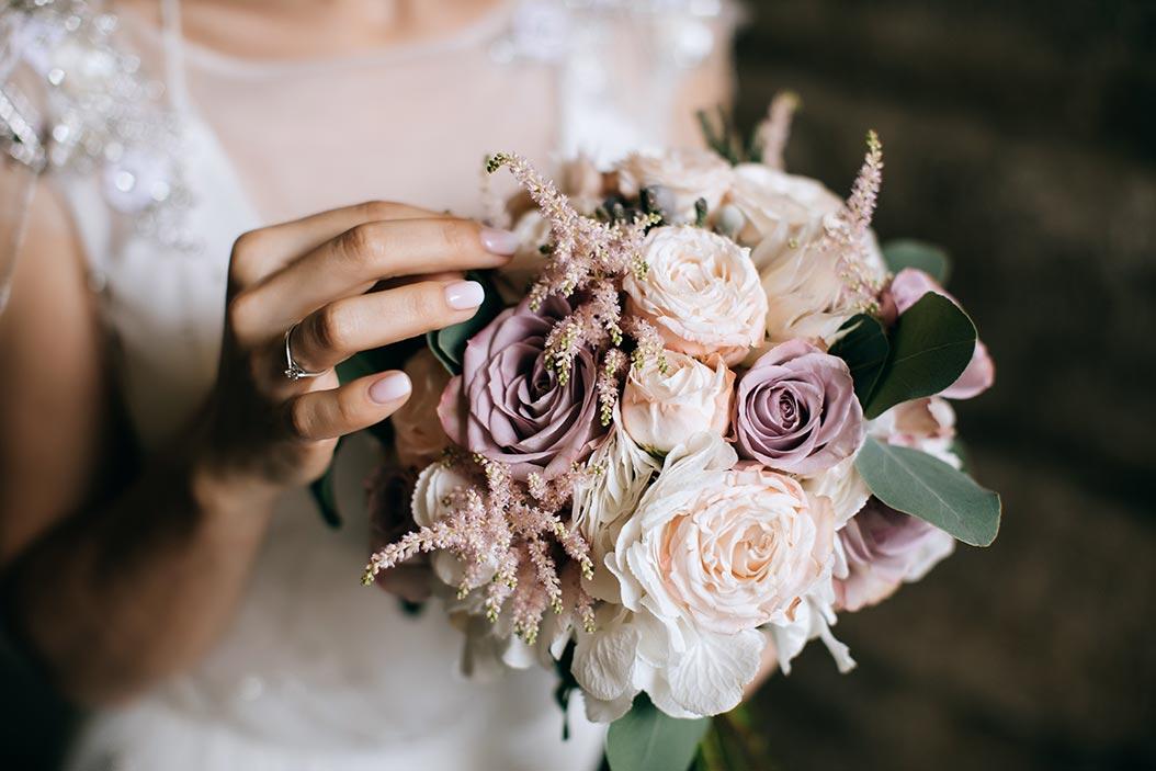 bouquet sposa shabby chic colori pastello