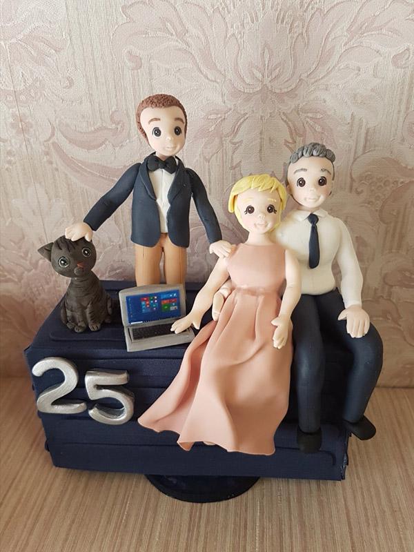cake topper 25 anni matrimonio