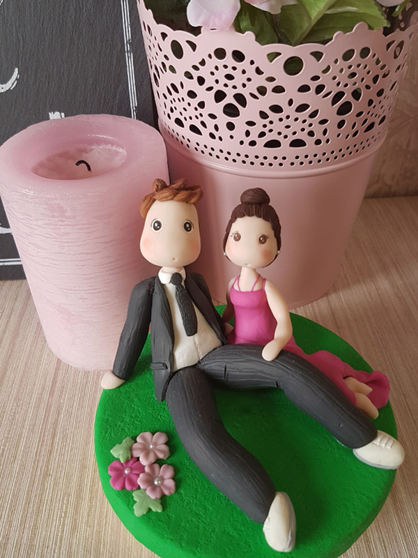 cake topper anniversario matrimonio