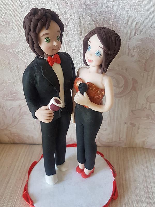 cake topper anniversario rosso