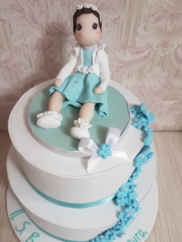 cake topper battesimo bambina