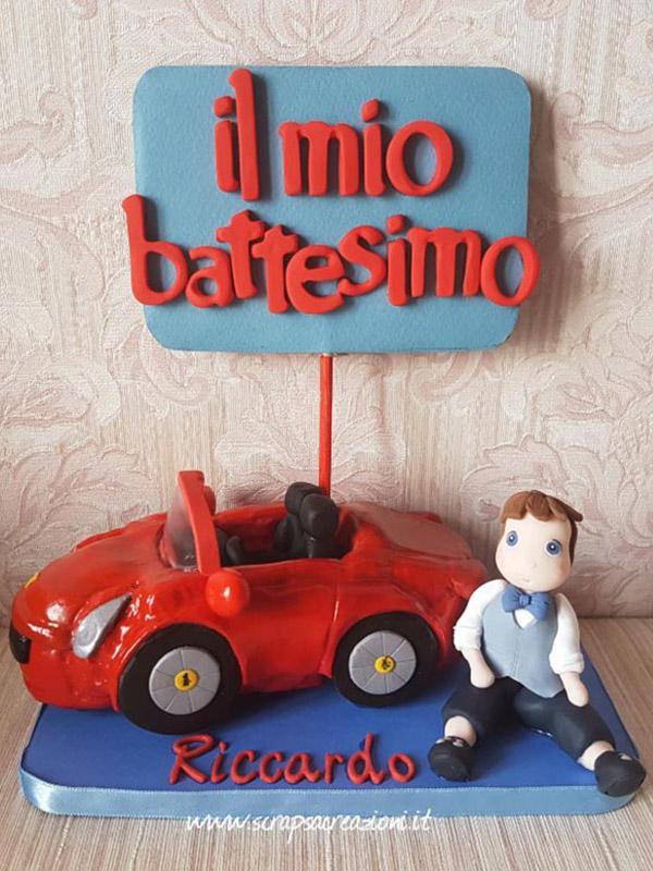 cake topper battesimo bambino