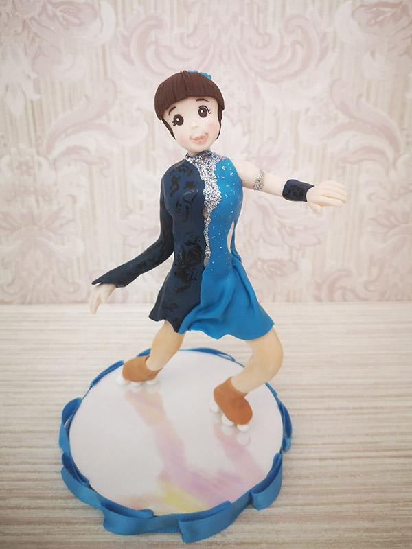 cake topper compleanno pattinatrice