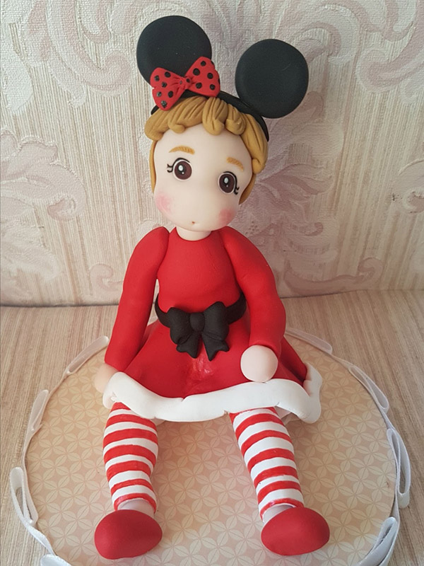 cake topper compleanno personalizzato minnie