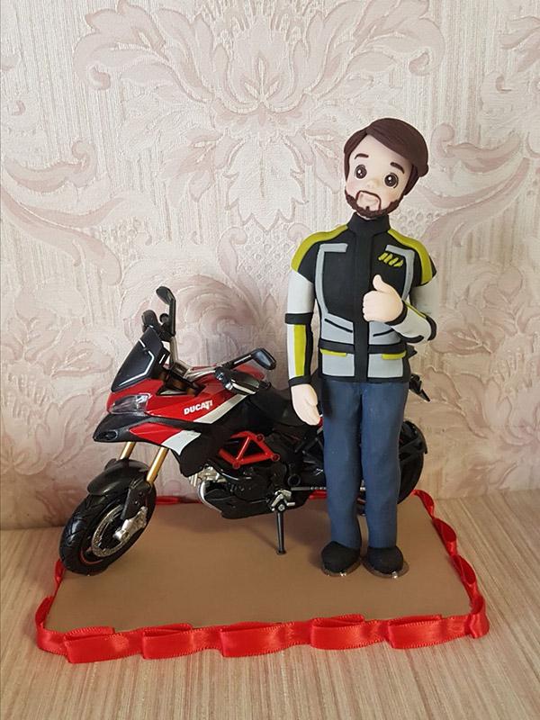cake topper compleanno personalizzato moto